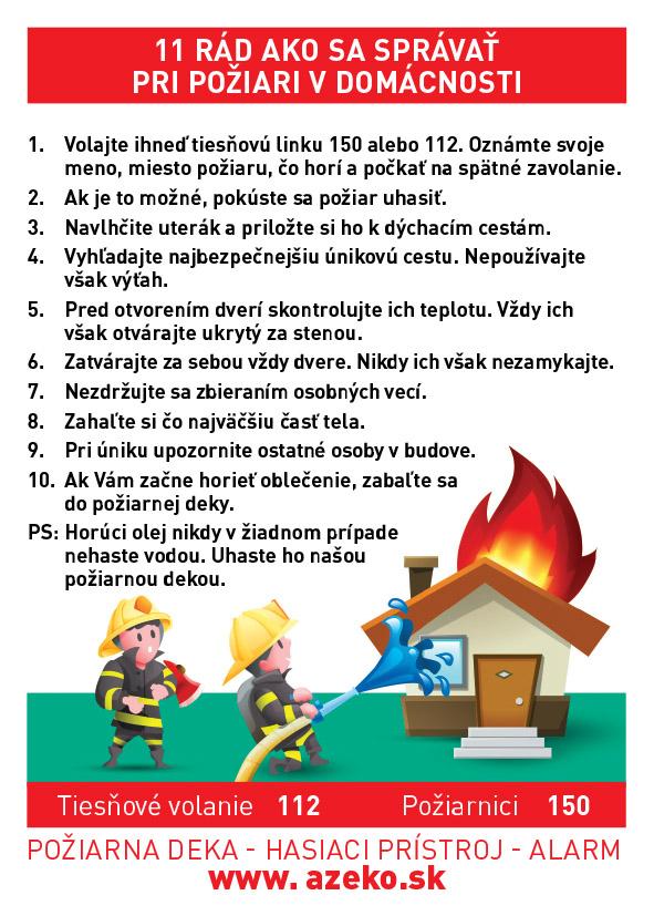 11 Rád ako sa správať pri požiari v domácnosti
