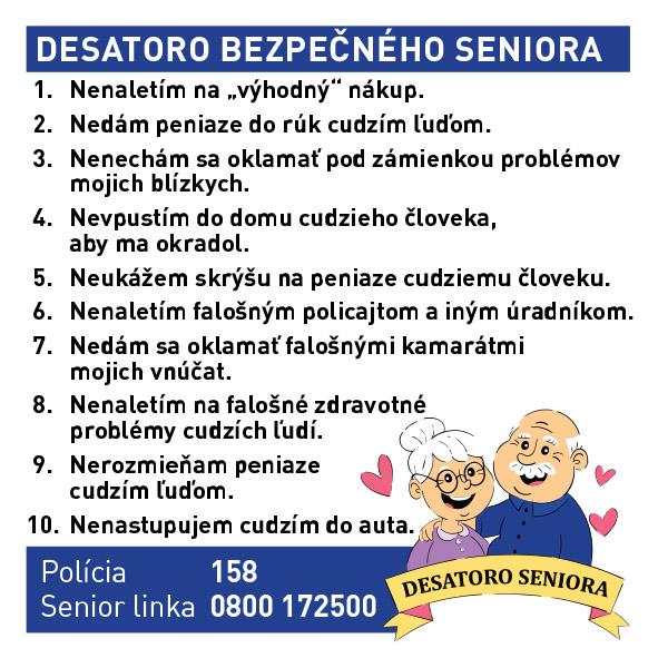 Desatoro bezpečného seniora